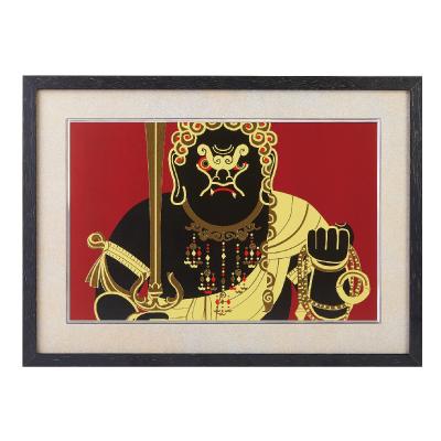 イスム HAKUジクレ pop'n Buddha 不動明王 ジグレー版画 アクリルカバー