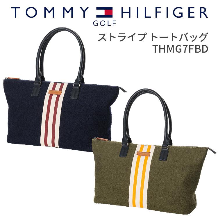 トミーヒルフィガー ゴルフ トートバッグストライプトートバッグTOMMY HILFIGER GOLF THMG7FBDトートバッグ かばん 鞄 bag A4トートギフト プレゼント