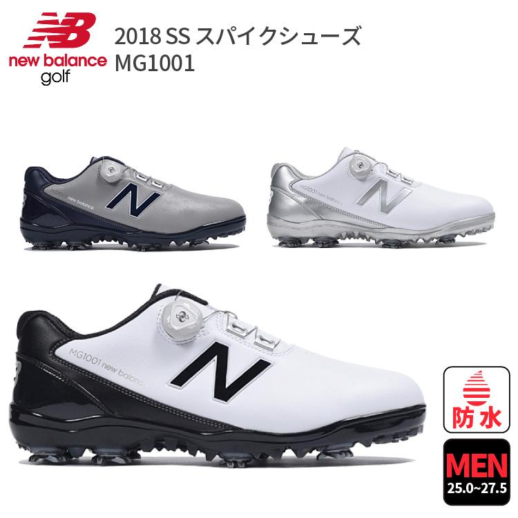 ◎ ポイント10倍 ◎ゴルフシューズ ニューバランスゴルフ MG1001NBスパイクBOA MG10012018年モデル メンズ ゴルフスパイク25.0/25.5/26.0/26.5 /27.0 /27.5日本サイズ 日本モデル 日本仕様new balance GOLF MGB1001GN MGB1001WB MGB1001WS