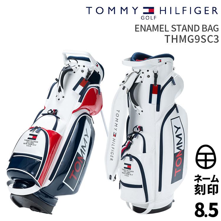 トミーヒルフィガーゴルフENAMEL STAND BAGTOMMY HILFIGER GOLF THMG9SC3エナメルスタンドバッグ2019年春夏モデル スタンドバッグ【ネーム刻印サービス】