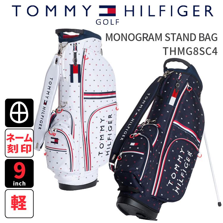 キャディバッグ トミーヒルフィガーTOMMY HILFIGER GOLF THMG8SC42018年春夏新作 スタンドキャディバッグMONOGRAM STAND BAG モノグラムスタンドバッグ