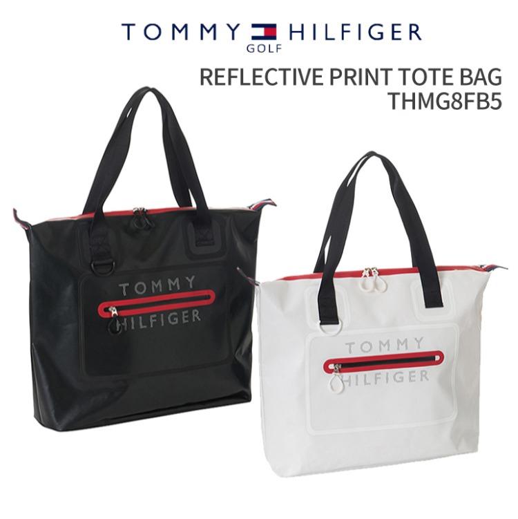 トミーヒルフィガーゴルフ REFLECTIVE PRINT TOTE BAG THMG8FB52018年秋冬モデル 新作TOMMY HILFIGER GOLFリフレクティブ プリント トートバッグファスナートート A4トート カジュアル