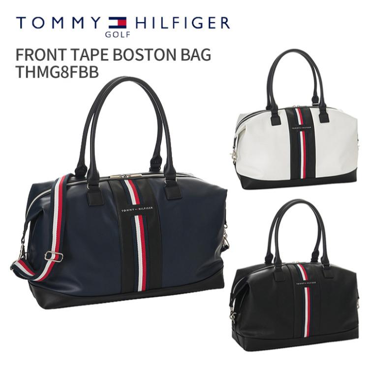 トミーヒルフィガーゴルフ FRONT TAPE BOSTON BAG THMG8FBB2018年秋冬モデルTOMMY HILFIGER GOLFフロントテープボストンバッグショルダー付きボストン ファスナーボストンラウンドバッグ ゴルフ用品 ギフトトラベルバッグ 旅行バッグ