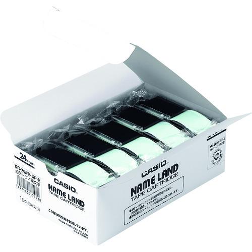 カシオ計算機(株) カシオ ネームランド用スタンダードテープ5本入り24mm (XR-24WE-5P-E)