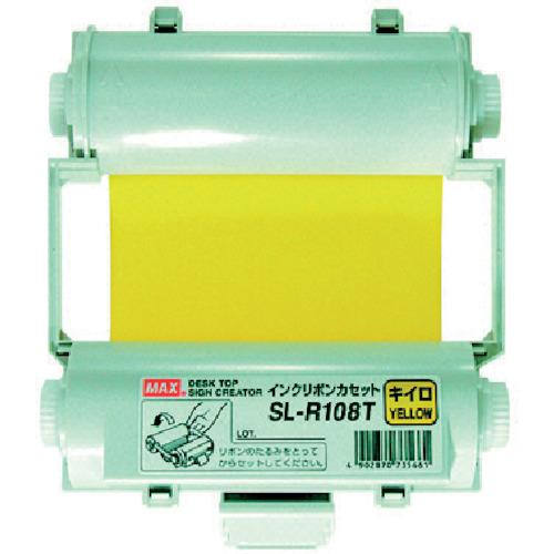 マックス MAX ビーポップ 使い切りインクリボンカセット 黄 (SL-R108T)