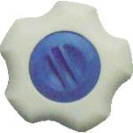 三星産業貿易 株 三星 内祝い フィットノブ M12 本体 キャップ 25%OFF 5個入り 白 青 FIT-W-M12-B-5P