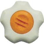 三星産業貿易 評価 株 三星 フィットノブ M12 ご予約品 本体 キャップ FIT-W-M12-O-5P 白 橙 5個入り