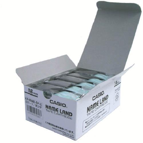 カシオ計算機(株) カシオ ネームランド用スタンダードテープ5本入り18mm (XR-18WE-5P-E)