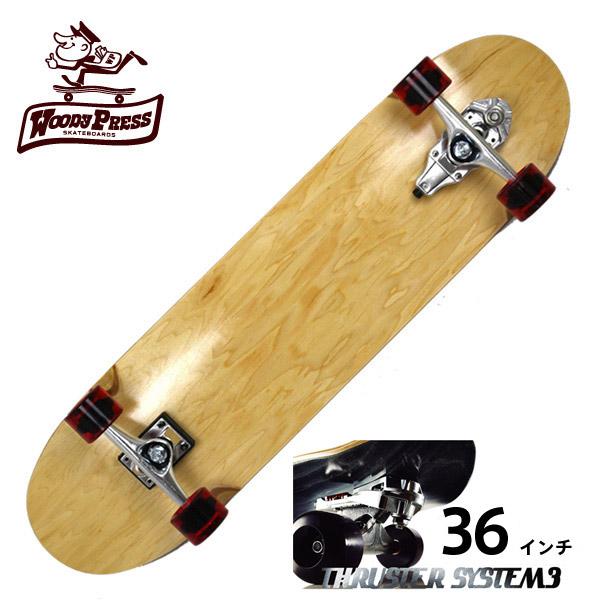 WOODY PRESS ウッディプレス サーフスケート スラスター3 コンプリート 36インチ NATURAL WPC-001 ロングスケボー スケートボード グラビティー ロンスケ カーバー 【クエストン】