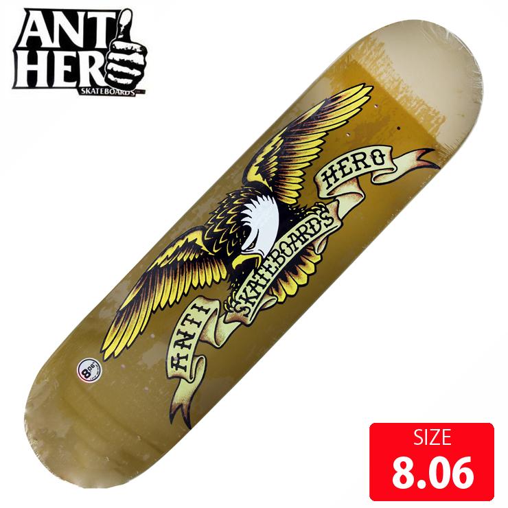ANTIHERO アンチヒーロー デッキ CLASSIC EAGLE DECK 8.061 AND-483 アンタイヒーロー スケボー スケートボード 【クエストン】