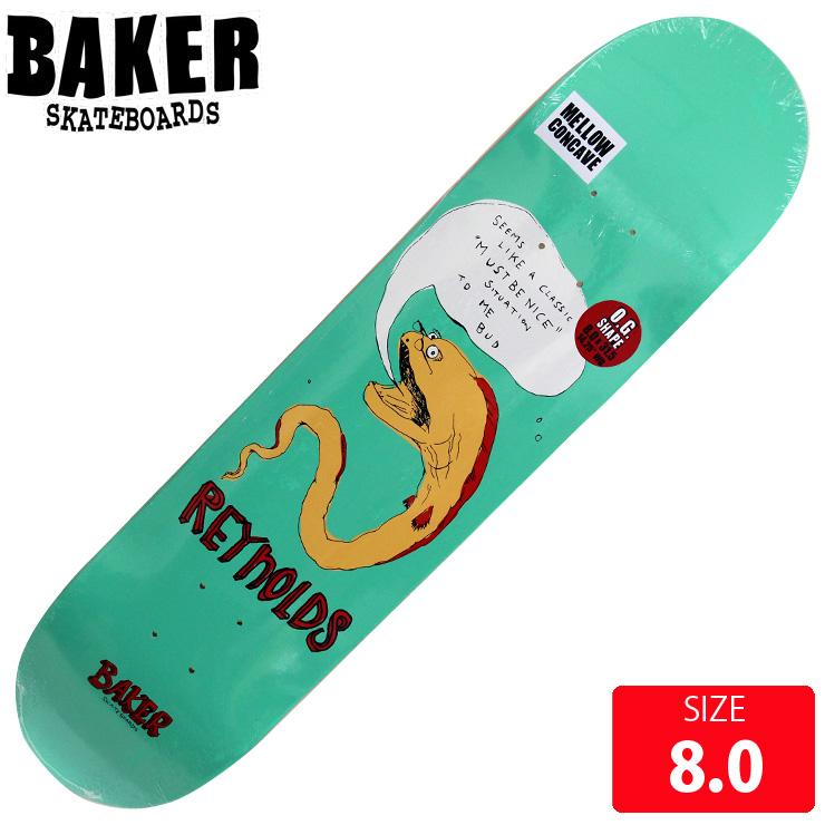 BAKER ベイカー デッキ REYNOLDS FISH TALK DECK 8.0 BAD-300 skateboard スケートボード スケボー