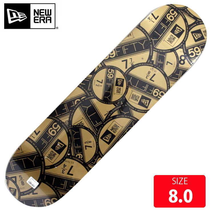 NEW ERA newera ニューエラ デッキ VISOR STICKER DECK 8.0 NED-001 スケボー スケートボード SKATEBOARD【クエストン】