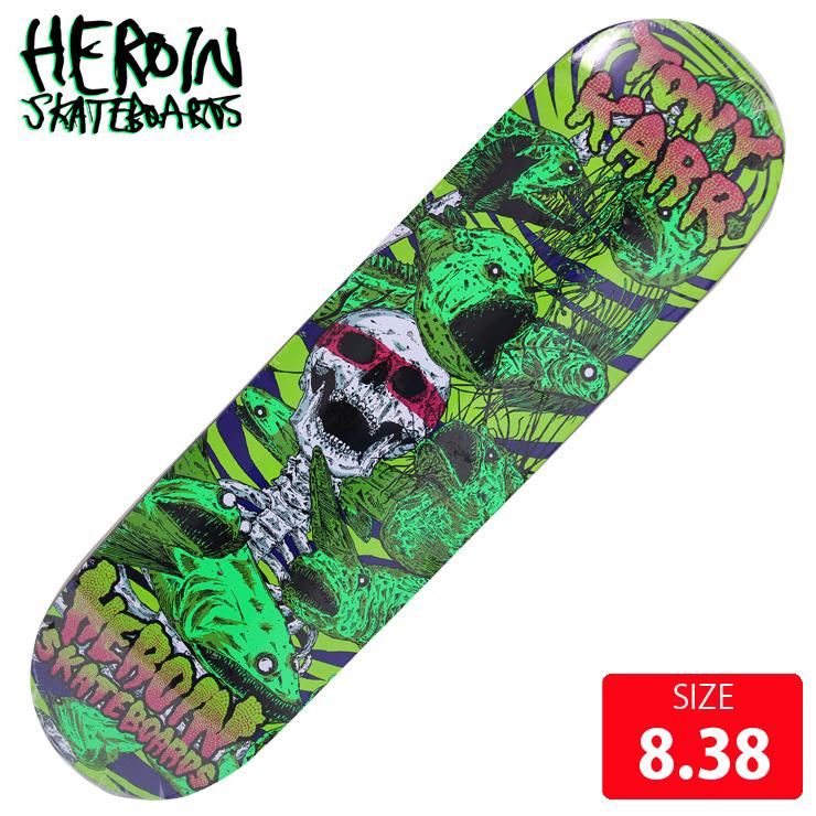 HEROIN ヘロイン デッキ KARR VICIOUS NATURE DECK 8.38 HRD-010 スケートボード SKATEBOARD 【クエストン】