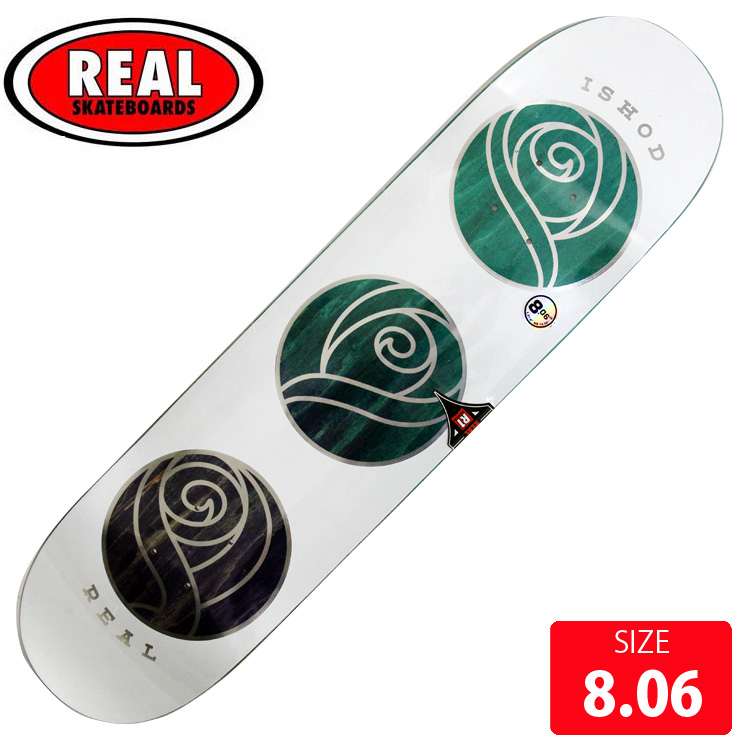 REAL リアル デッキ ISHOD WAIR WILD ROSES DECK 8.06 RAD-658 スケートボード スケボー