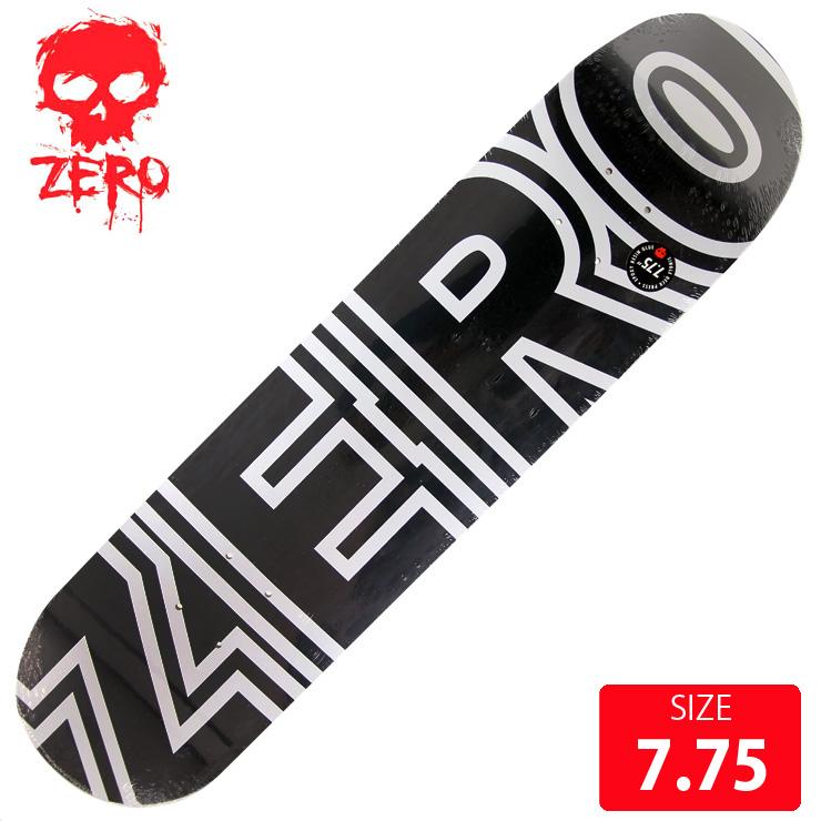 ZERO ゼロ デッキ BOLD CLASSIC BLACK DECK 7.75 ZRD-223 スケボー スケートボード skateboard 【クエストン】