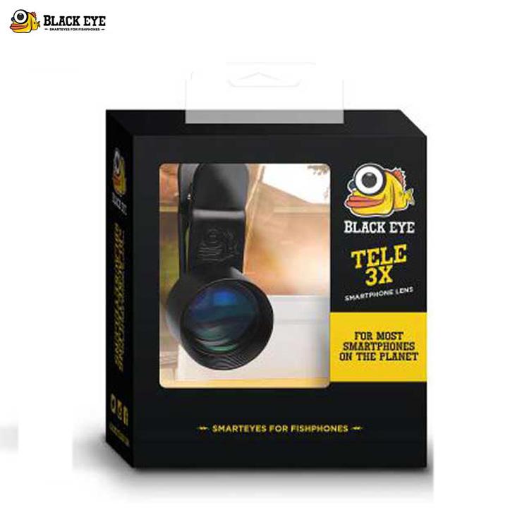 BLACK EYE/ブラックアイ TELE X3 スームレンズ スマートフォン対応 カメラレンズ セルカレンズ 【クエストン】