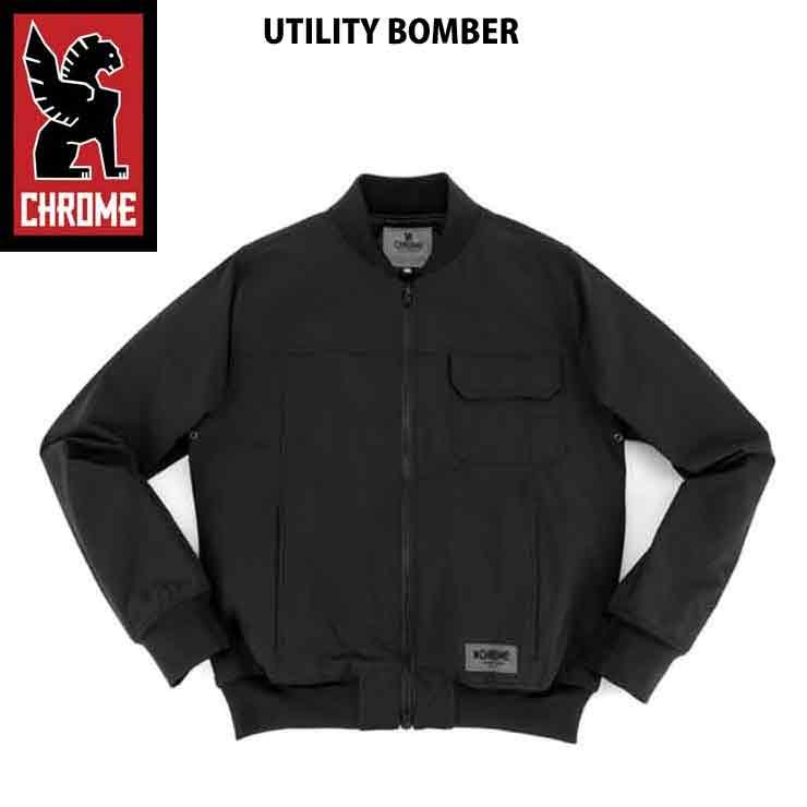 輝い CHROME クローム メンズ UTILITY BOMBER BLK CHROME ジャケット アウター BOMBER 17FW SALE SALE, 高質:6930b2ff --- canoncity.azurewebsites.net