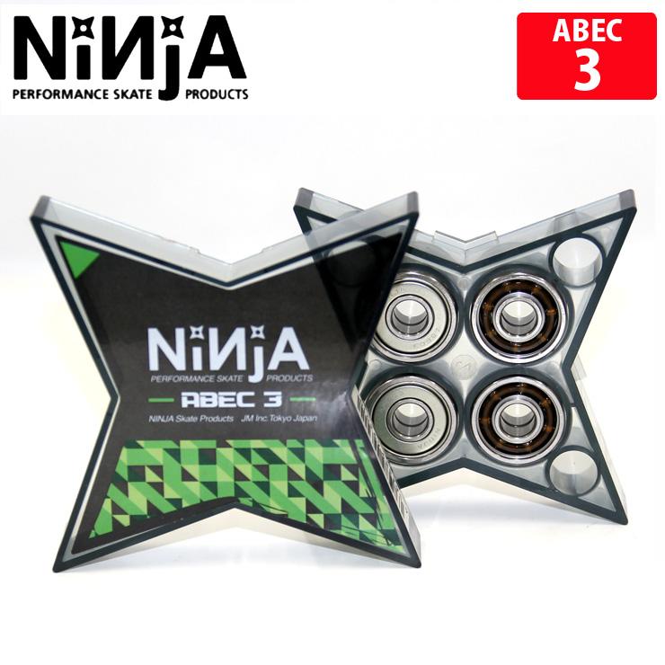 世界のNINJA 安売り ベアリング NINJA ニンジャ STAR ABEC 3 OIL クエストン bearing スケートボード パーツ (訳ありセール 格安) スケボー