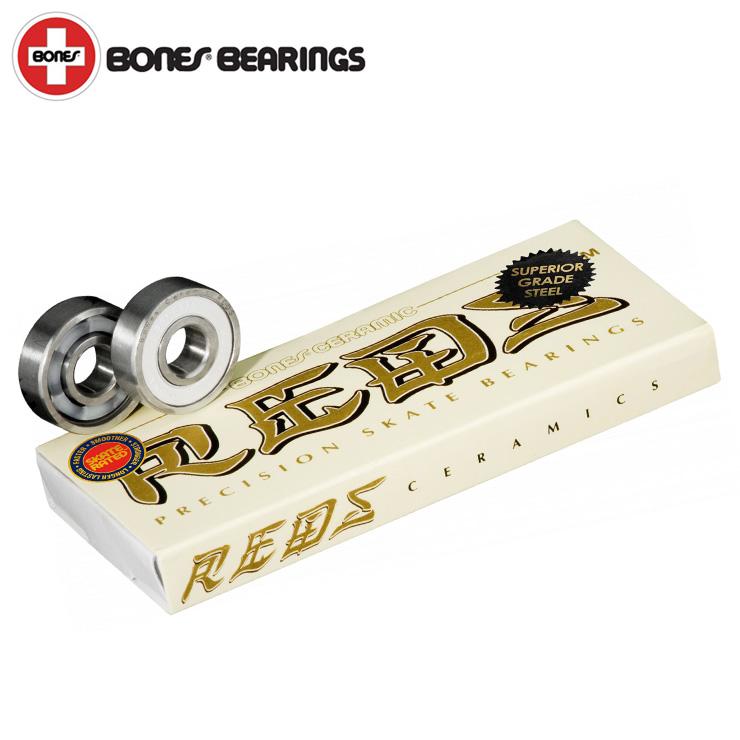 最高の滑りと耐久性 BONES 新商品!新型 ボーンズ 予約 ベアリング セラミック スーパーレッズ BEARING ストリート REDS クエストン スケートボード スケボー SUPER CERAMIC