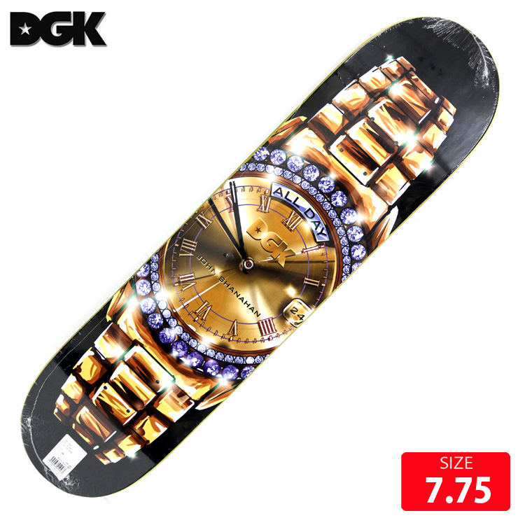 DGK デッキ ディージーケー デッキ TIMEPEACE JOHN SHANAHAN DECK 7.75 skatebaord スケートボード スケボー
