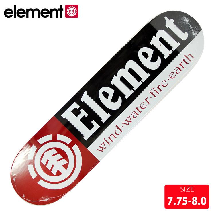 スケボーデッキ スーパーセール期間限定20%OFF エレメント ELEMENT 日本産 BB027-050 SECTION 8.0 BB027050 DECK スケートボード デッキ 7.75 税込