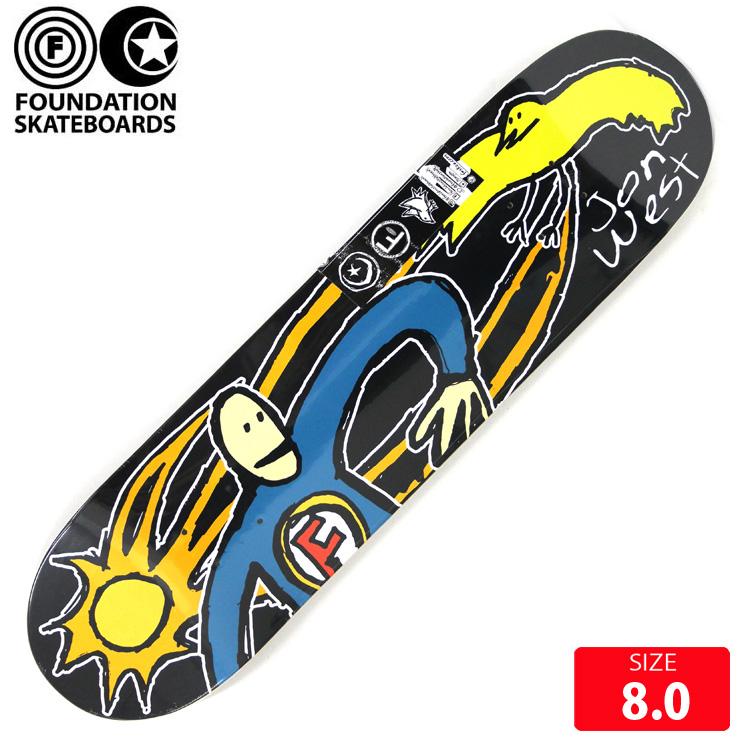 FOUNDATION ファンデーション デッキ WEST BIRD CATCHER DECK 8.0 スケボー skateboard 新作