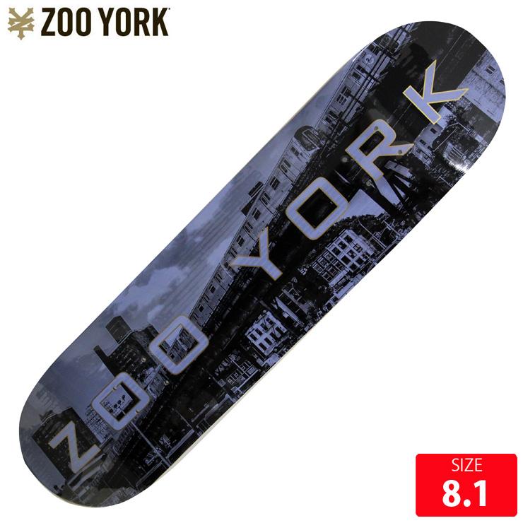 ZOOYORK ズーヨーク デッキ METROPOL IS SUBWAY DECK 8.1 SKATEBOARD スケートボード スケボーデッキ