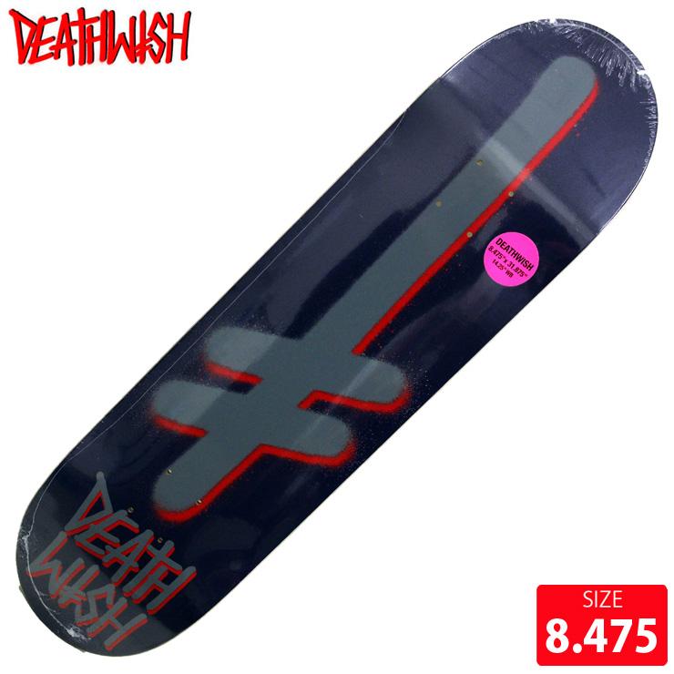 DEATHWISH デスウィッシュ デッキ GANG LOGO PERAL/PURPLE DECK 8.475 スケートボード スケボー 【クエストン】