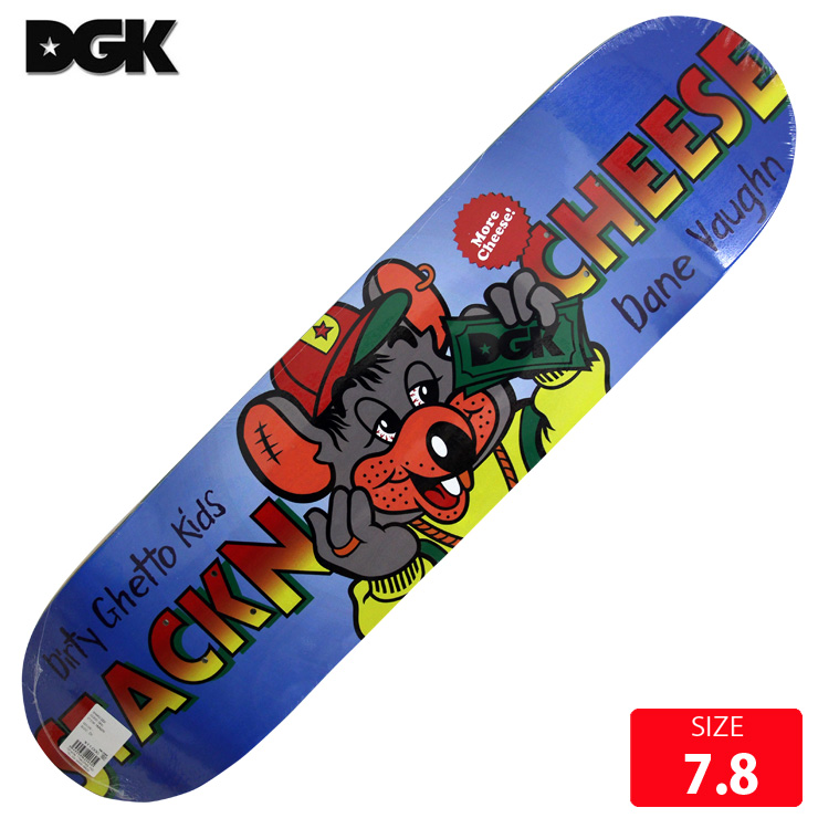 DGK デッキ ディージーケー デッキ HUNGRY DANE VAUGHN DECK 7.8 skatebaord スケートボード 【クエストン】