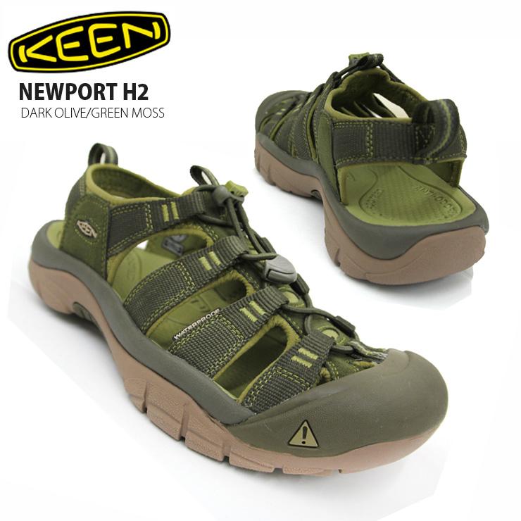 【在庫処分】KEEN キーン ニューポート H2 サンダル DARK OLIVE/GREEN MOSS 17343:メンズ サンダル キャンプ アウトドア 男性用 新作 【クエストン】