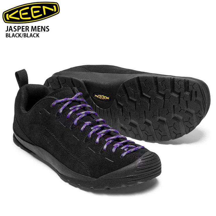 KEEN キーン ジャスパー Jasper BLK/BLACK :メンズ スニーカー 靴 登山 ハイキング キャンプ アウトドア 男性用