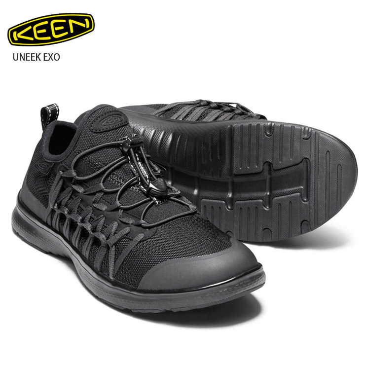 【在庫処分】KEEN キーン ユニーク UNEEK EXO TRIPLE BLACK:メンズ サンダル キャンプ アウトドア 男性用 【クエストン】