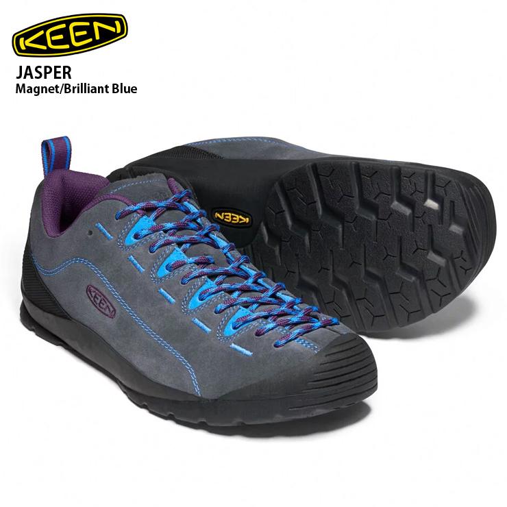 KEEN キーン ジャスパー Jasper Magnet/Brilliant Blue メンズ スニーカー 靴 登山 ハイキング キャンプ アウトドア 男性用 【クエストン】