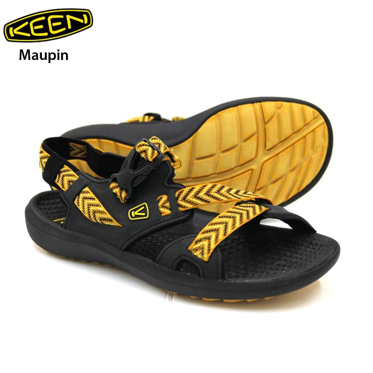 KEEN キーン Maupin マーピン Black/Golden Yellow メンズ スニーカー 靴 登山 ハイキング キャンプ アウトドア 【クエストン】