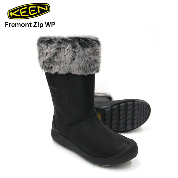 KEEN キーン Fremont Zip WP フロントジッパー Black レデース ブーツ アウトドア 【クエストン】