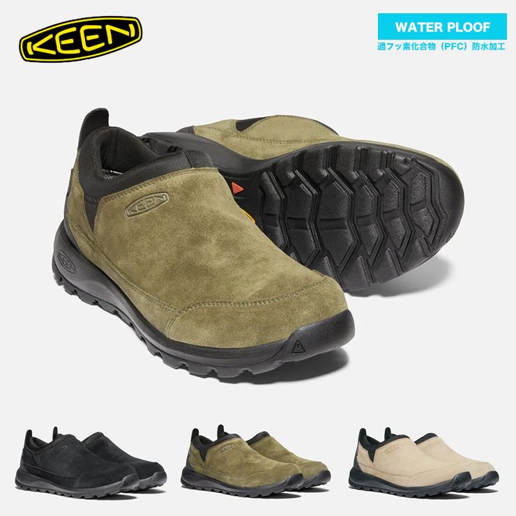 キーン メンズ 大幅にプライスダウン 靴 KEEN グリーザー モック ウォータープルーフ 紐なし 防水スニーカー クエストン 防水 履きやすい ギフト スウェード ラク
