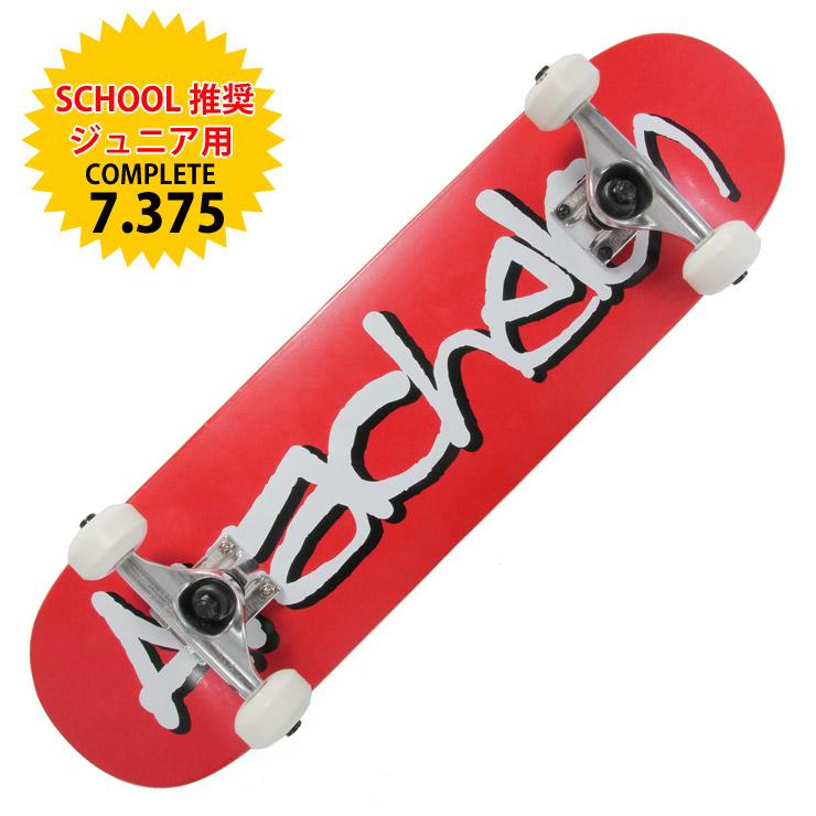 ARACHELON スケートボード 1STMODEL RED 7.375 完成品 スケボー ジュニア COMPLETE キッズ 【クエストン】