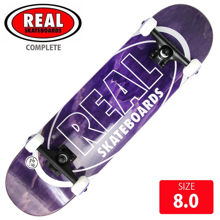 コンプリート REAL リアル METALLIC OVALS LGデッキサイズ 8.0インチ RAC-189 完成品 組立て済 スケートボード スケボー 【クエストン】