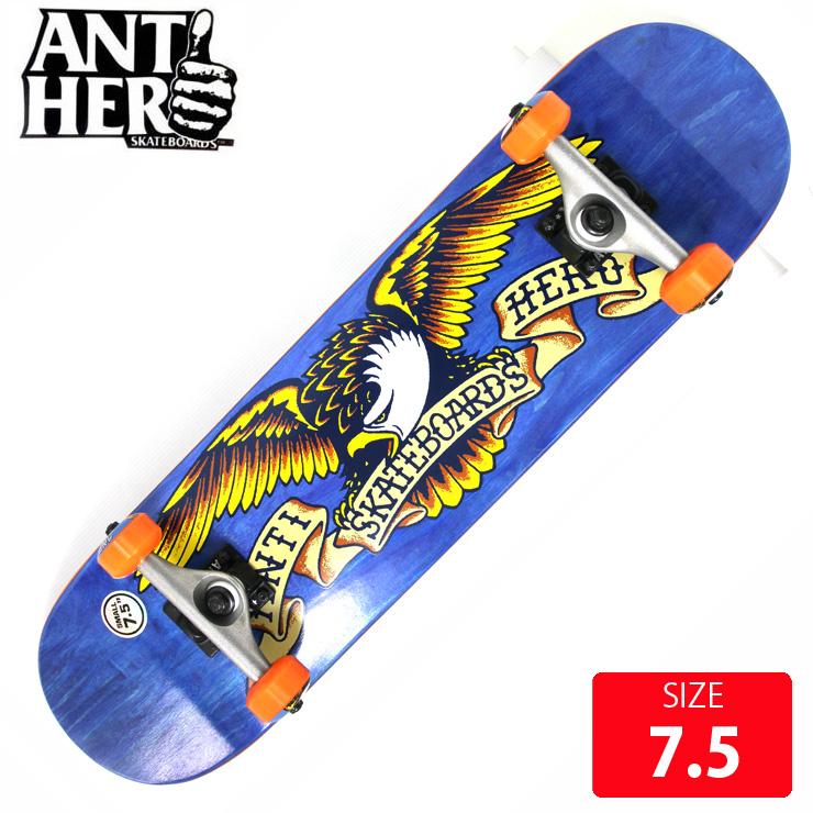 ANTI HERO アンチヒーロー コンプリート STAINED EAGLE SM DECK 7.5インチ ANC-011 完成品 組立て済 スケートボード スケボー 【クエストン】