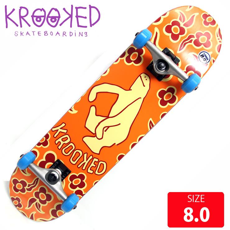 KROOKED クールーキッド コンプリート GNU SHMOO LG DECK 8.0 KKC-010 完成品 組立て済 スケートボード スケボー 【クエストン】