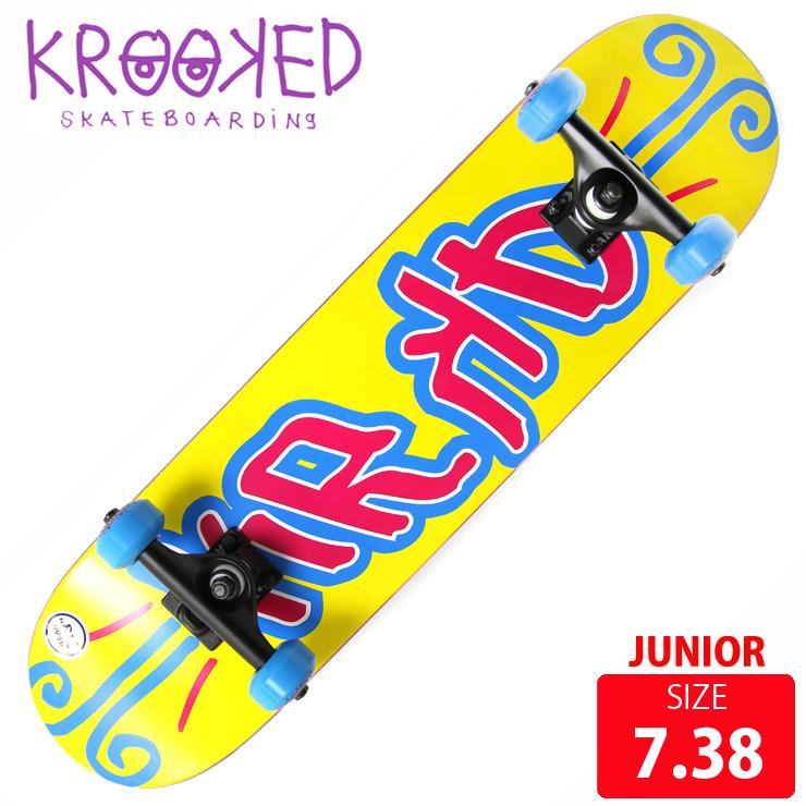 KROOKED クールーキッド ジュニア コンプリート KD MINI DECK 7.38 インチ KKC-012 完成品 組立て済 スケートボード スケボー 【クエストン】