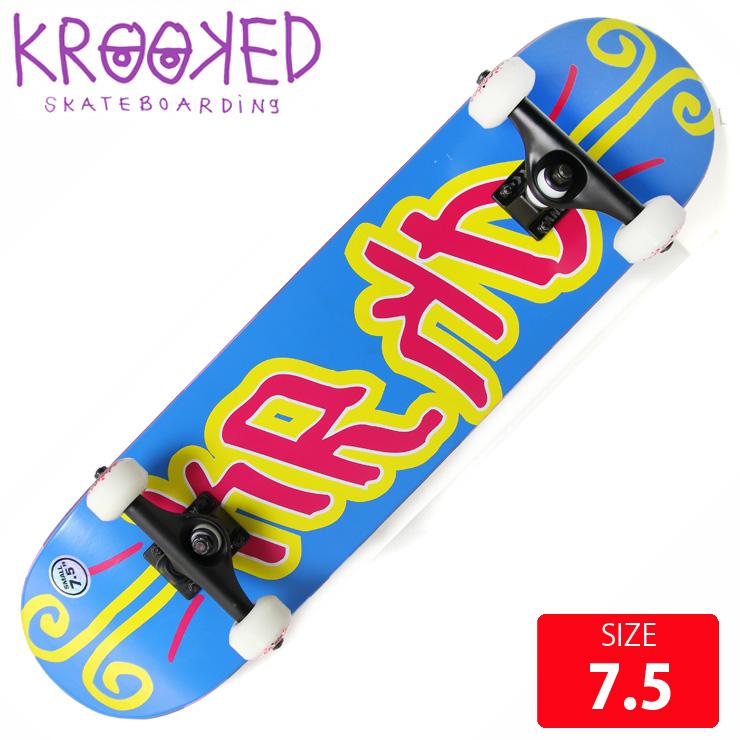 KROOKED クールーキッド コンプリート KD SM DECK 7.5 KKC-012 完成品 組立て済 スケートボード スケボー 【クエストン】