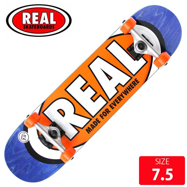 REAL リアル コンプリート TEAM OVAL SM DECK サイズ 7.5 RAC-200 完成品 組立て済 スケートボード スケボー