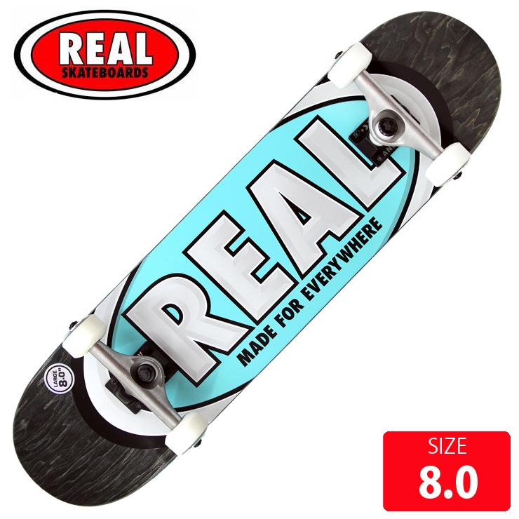 REAL リアル コンプリート TEAM OVAL LG DECK サイズ 8.0 RAC-202 完成品 組立て済 スケートボード スケボー