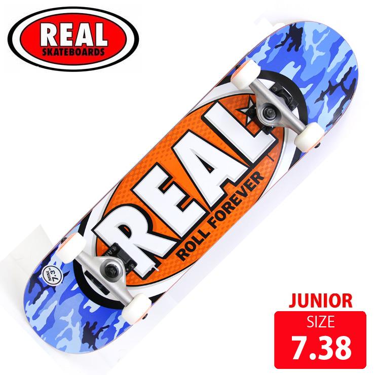 REAL リアル コンプリート ジュニア AWOL OVAL MINI DECK サイズ 7.38 RAC-203 完成品 組立て済 スケートボード スケボー
