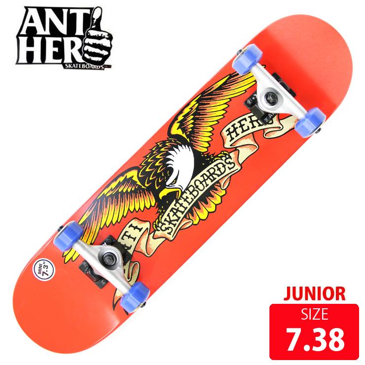 スケボー コンプリート ANTI HERO アンチヒーロー CALSSIC EAGLE MINI DECK 7.3 ANC-014 完成品 スケートボード