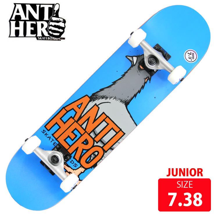 スケボー コンプリート ANTI HERO アンチヒーロー PEGEON HERO MINI DECK 7.38 ANC-018 完成品 スケートボード