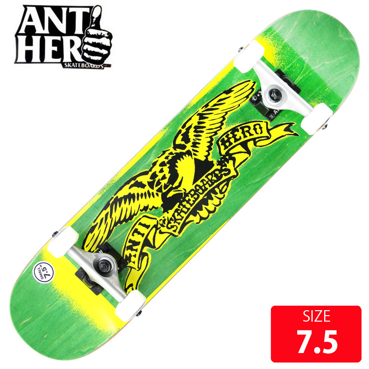 ANTI HERO アンチヒーロー コンプリート STENCIL EAGLE SM DECK 7.5 ANC-023 完成品 組立て済 ジュニア スケートボード スケボー