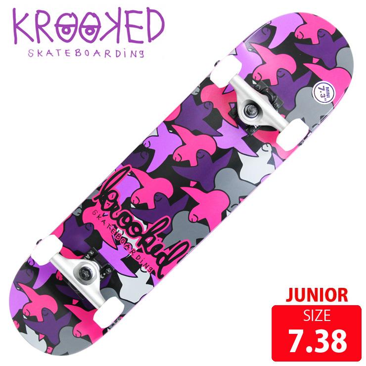 KROOKED クールーキッド コンプリート BIRDCAMO MINI DECK 7.38 インチ KKC-014 ジュニア 完成品 組立て済 スケートボード スケボー