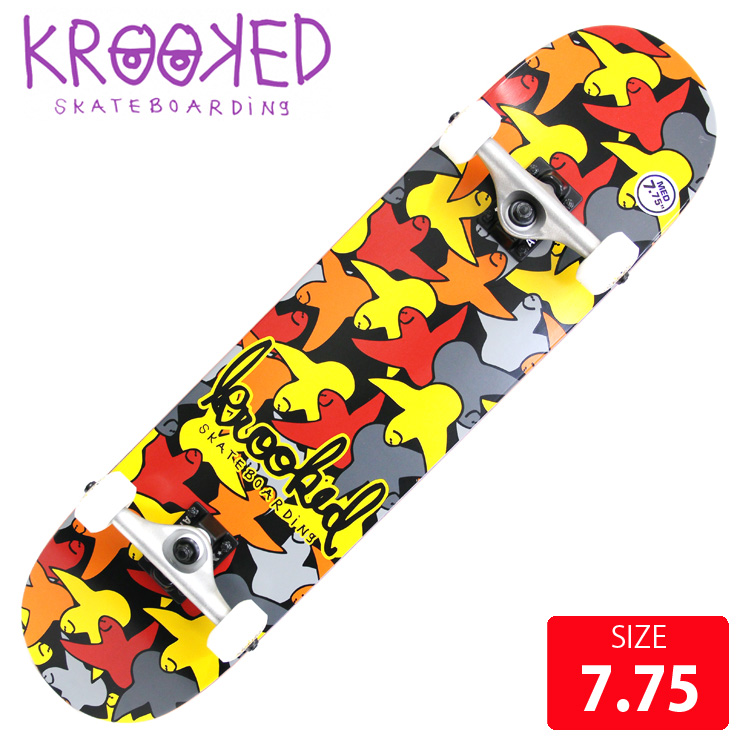 KROOKED クールーキッド コンプリート BIRDCAMO MD DECK 7.75 インチ KKC-016 完成品 組立て済 スケートボード スケボー